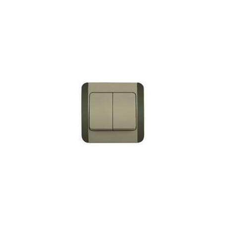 Włącznik / wyłącznik podwójny Elegant Green