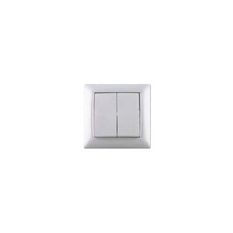 Włącznik / wyłącznik podwójny Elegant White