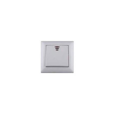 Włącznik / wyłącznik pojedyńczy Elegant White z diodą
