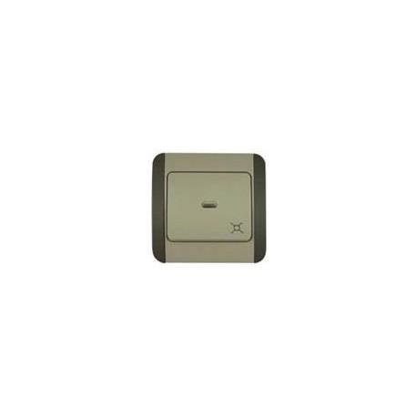 Włącznik / wyłącznik Elegant Green z diodą