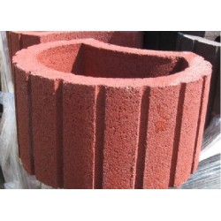 Donica betonowa czerwona